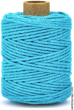Cotton Cord 2mm 50m Turquoise