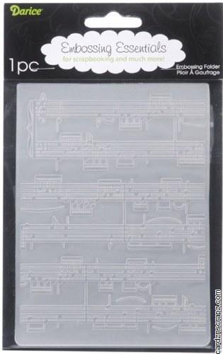 Embossing Folder D Music*