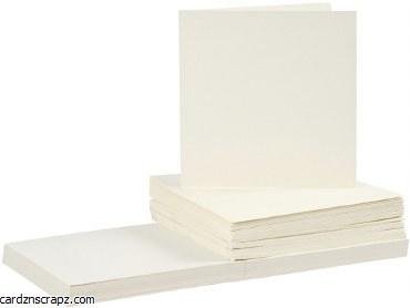"""Card/Env 50pk 6x6"""" Off White"""