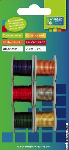 Wire Copper .46mmx2.7m 6pk