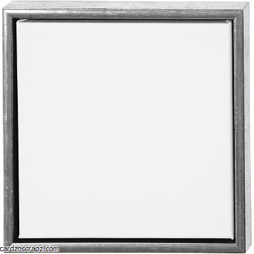 """Wooden Frame Silver & Canvas 12x12"""""""