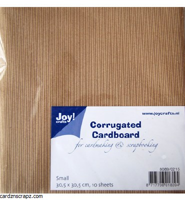 "Corrugated Card Kraft 12x12"" 10pk"