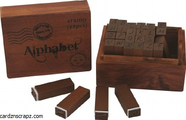 Papermania Wooden Alphabet Stamps (28pcs)