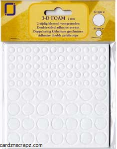 Foam 3D Double Sided Adhesive Dots 12mm & 6mm 88pk