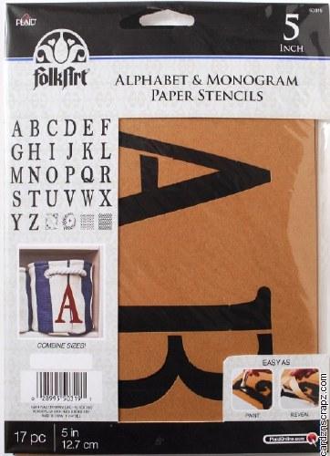 "Stencil FolkArt 5"" Alphabet"