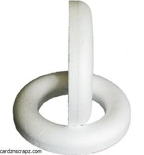 "Polystyrene Ring 9"" Flat Backed"