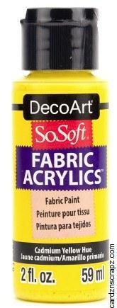 DecoArt SoSoft 59ml Yellow Cadmium