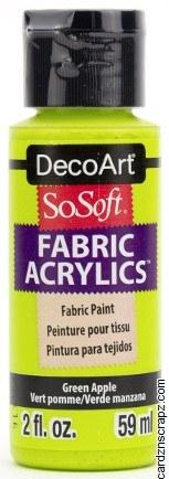 DecoArt SoSoft 59ml Green Apple