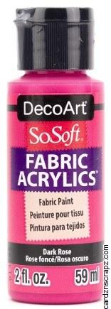 DecoArt SoSoft 59ml Pink Rose Dark