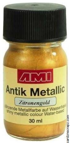 Metallic Paint 30ml - Lemon Gold