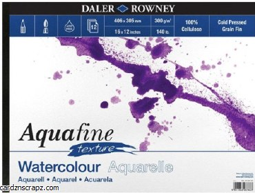 "Aquafine Watercolour Pad 16x12"" 12 sheets"