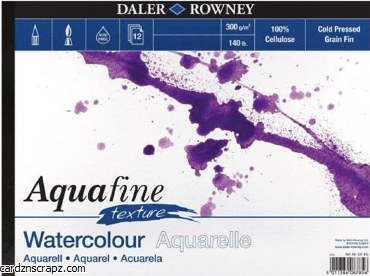 "Aquafine Watercolour Pad 10x7"" 12 sheets"