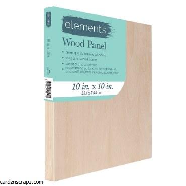 "Wood Panel Elements 10x10"""