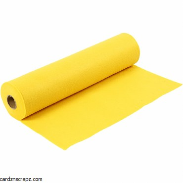 Felt 45cm 1.5mm x 5m Yellow