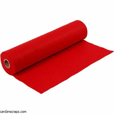 Felt 45cm 1.5mm x 5m Red