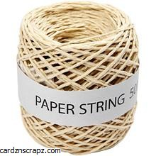 Paper Cord Natural 1mm 50m