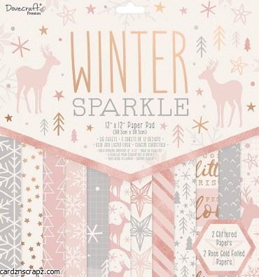 Paper Pk 12x12 Dovecraft Winter Spark