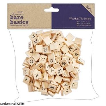 Wooden Tile Letters 15mm 200pk