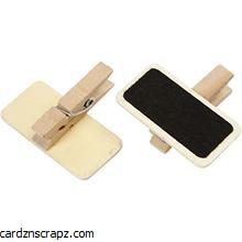 Mini Wooden Blackboard Pegs 20x40mm 100 pack