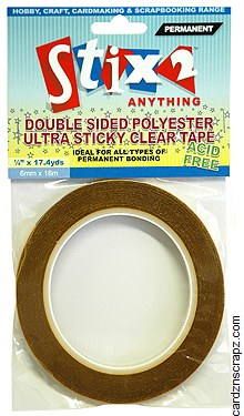 Tape Stix2 D/Sided 6mmx16m