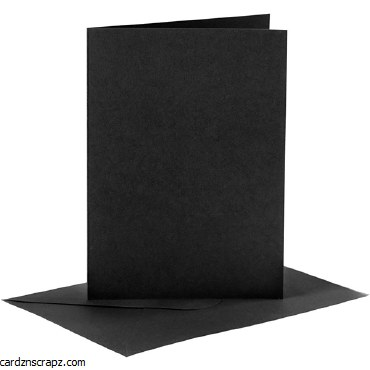 Card/Env A6 6pk Black