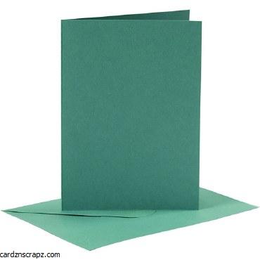 Card/Env A6 6pk Dark Green
