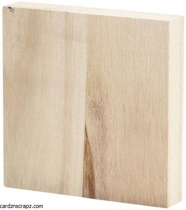Wood Budget Block 96x96x20mm
