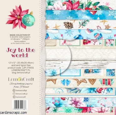 Paper Pk 12x12 Lemoncraft Joy To The World
