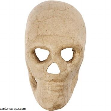 "Papier Mache Mask 5"" Skeleton"