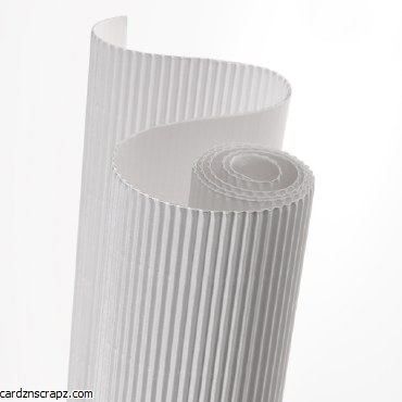 Corrugated Roll 50x70cm White