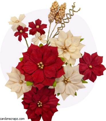 Prima Christmas In The Country Flowers Joyful
