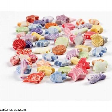 Beads Acrylic Seashore 110gm^