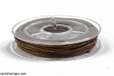 Leather Cord 1mm Brown x 5m
