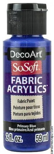 DecoArt SoSoft 59ml Blue Primary