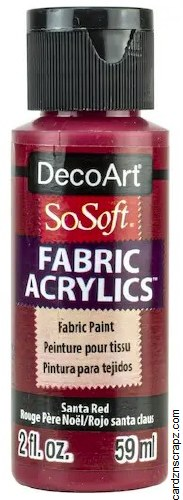 DecoArt SoSoft 59ml Red Santa