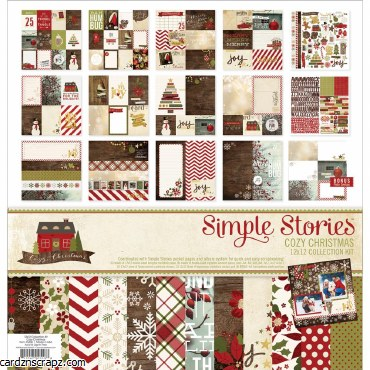 Simple Stories Collection Kit 12X12 Cozy Christmas