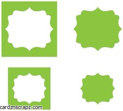 Sizzix Movers & Shapers Magnetic Die 2pk Fancy Labels