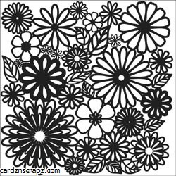 "Crafters Workshop 6x6"" Flower Frenzy"
