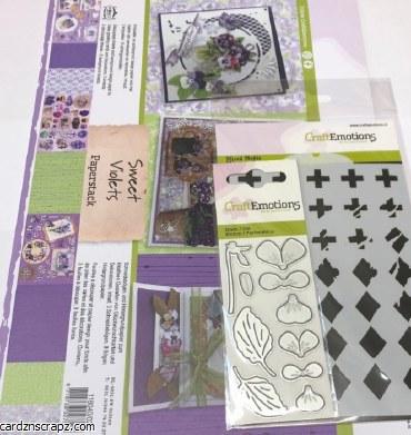 A4 Decoupage Sweet Violet Kit