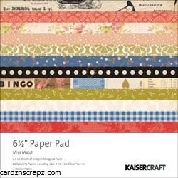 Kaisercraft Miss Match Paper Pad 6.5X6.5 40 Sheets