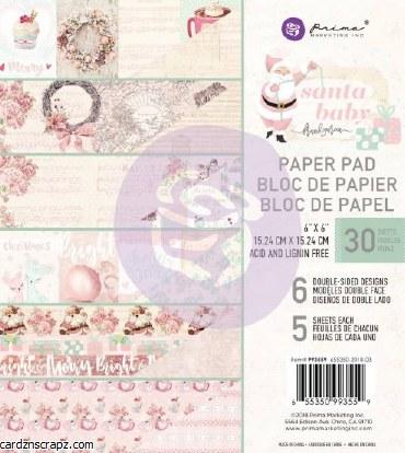 """Paper Pk 6x6"""" Prima Santa Baby"""