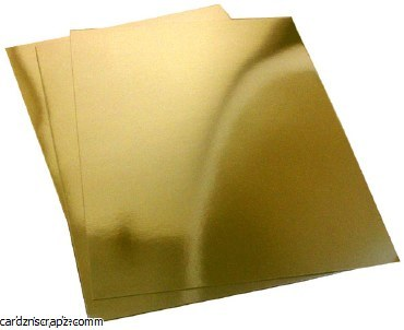 A4 Mirror Board 250g Gold 20pk