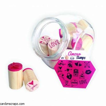 Aladine Glass Stamp Jar Love