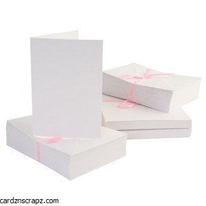 Card & Envelope 100 Pack A6 White