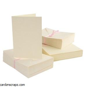 Card & Envelope 100 Pack A6 Cream