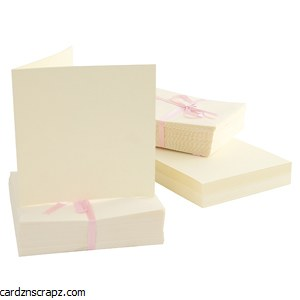 Card & Envelope 100pk Square Cream 135mm