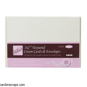 "Card/Env 20pk 5x7"" Textured Cream"