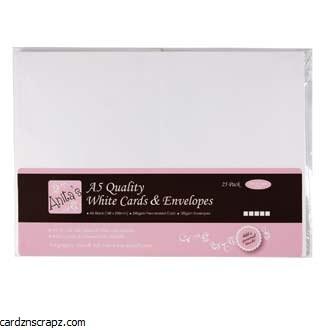 Card/Envelope Blank A5 148x210mm White 25pk