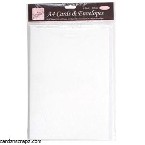 Card/Env 4pk A4 White