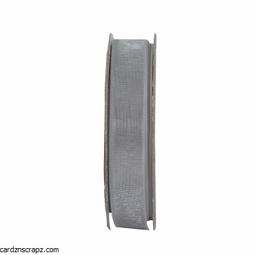 Ribbon 3m Organza Soft Silver